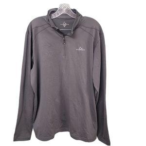Paradox Fleece Lined Dark Gray Half Zip Shirt
